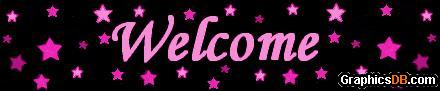 welcome pink stars