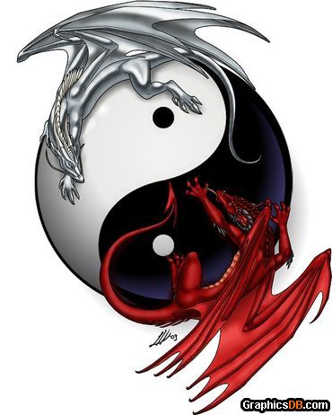 feng shui ying yang dragon photos