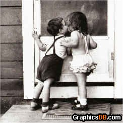 Young Kissing